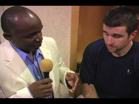Chris Drury NY Rangers Interview 12.16.08