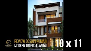 Video Mr. Charles Modern House 4 Floors Design - PIK, Jakarta Utara
