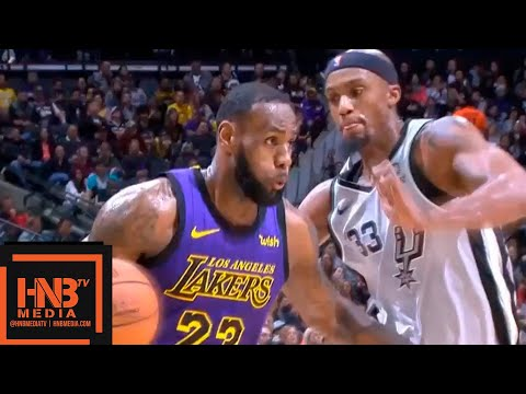 Los Angeles Lakers vs San Antonio Spurs 1st Half Highlights | 12.07.2018, NBA Season