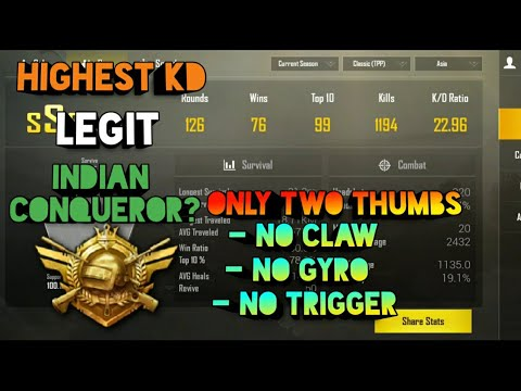 4 Finger Claw With Gyroscope PUBG Mobile India Gameplay ! - смотреть