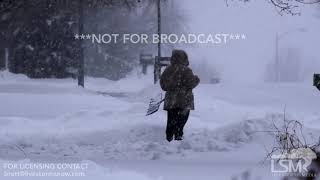 1-22-19 Papillion, Nebraska Heavy Snow from Winter Storm
