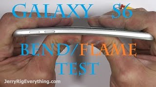Samsung Galaxy S6 FIRE test, Bend Test, Scratch test