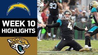 Chargers vs. Jaguars | NFL Week 10 Game Highlights