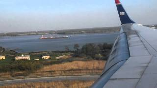 preview picture of video 'Beautiful Philadelphia River Approach - Boeing 757-200, US Airways'