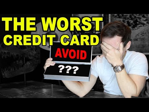 I FOUND THE  5 WORST CREDIT CARDS EVER...(AVOID THESE!)