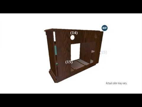 FE9352: Atkinson Media Fireplace - Rich Brown Oak Assembly Video