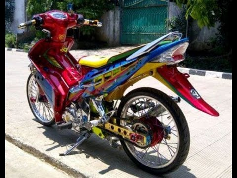 Video Motor Trend Modifikasi | Video Modifikasi Motor  Yamaha Jupiter  MX Airbrush Terbaru Part 2