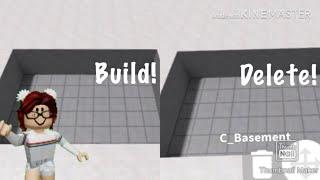 Make and delete a basement || Bloxburg Beta || I-phone