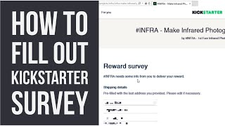 Kickstarter Tip #6 - How to fill out the project survey