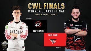 100 Thieves vs FaZe Clan | CWL Finals 2019 | Day 2