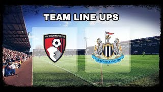 LIVE   Starting XI   Bournemouth v Newcastle United