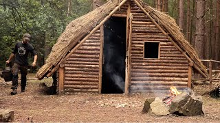 Building A Medieval Bushcraft House: Window Frames | Bushcraft Project (PART 13)