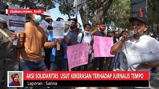 Gelar Aksi Solidaritas, Wartawan Pasee Desak Kapolri Usut Tuntas Kekerasan Terhadap Jurnalis