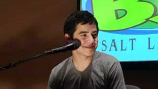 "David Archuleta sings ""Crush"" live Todd and Erin show B98.7 SLC 2010"
