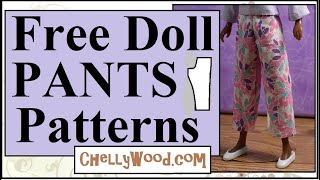 Free Doll Clothes Patterns: 9 Inch Doll Pants Patterns