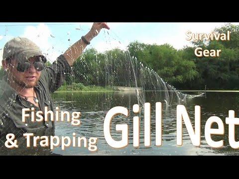 Survival Gill Net Fishing -B.O.B. Trapping Gear-