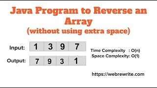 Java Program to Reverse an Array