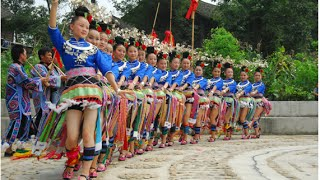 Golden Peasant Dance of Miao People