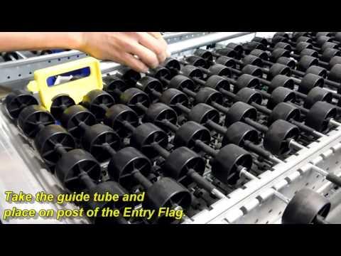 Carton Flow Rack Entry Guide & Lane Divider Installation | Mallard Manufacturing