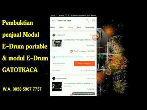 Pembuktian Penjual Modul E Drum Portable dab Modul E Drum GatotKaca