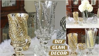 DIY DOLLAR STORE GLAM CANDLE HOLDER & VASE | DIY HOME DECOR IDEAS