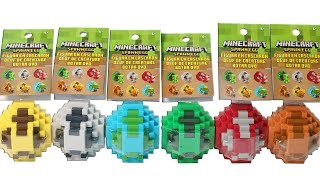 Minecraft Spawn Eggs Blind Box Mini Figure Full Set Opening Unboxing Toy Review