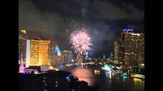 2015-06-08 Timelapse. Fireworks over Chao Phraya, Bangkok