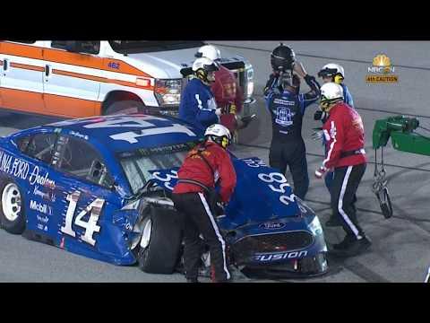 Monster Energy NASCAR Cup Series 2018. Darlington Raceway. Clint Bowyer & Ryan Newman Crash