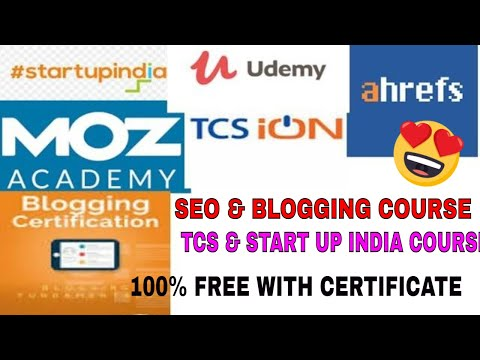 FREE SEO,BLOGGING,TCS ION COURSES IN LOCKDOWN,FREE ...