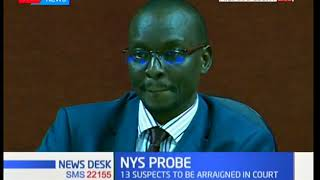 13 NYS suspects arraigned in court at the Milimani Law Courts