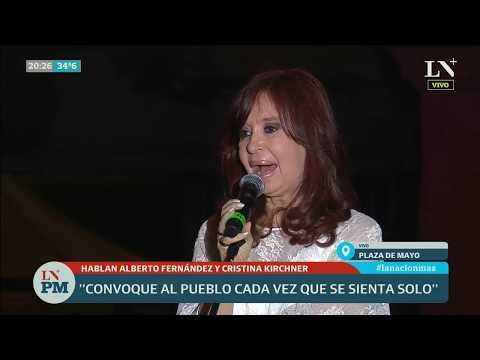Discurso de Cristina Kirchner, vicepresidenta, en Plaza de Mayo