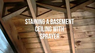 Staining A Basement Ceiling