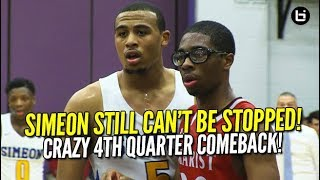 SIMEON Goes DOWN TO THE WIRE in Sectional! Kejuan Clements is CLUTCH vs Marist! Full Highlights!