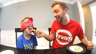 FATHER SON WEIRD FOOD TEST!