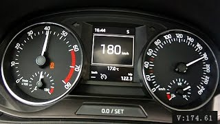 New Skoda Fabia III 1,2 TSI 2015 - acceleration 0-180 km/h, tiny driving moments