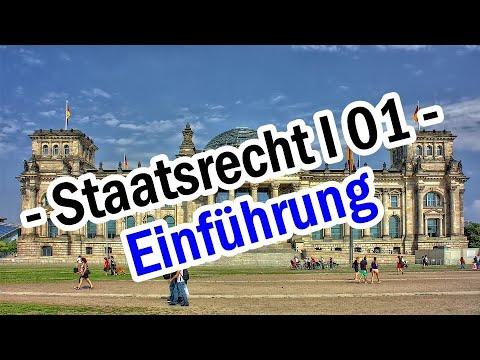 Staatsrecht I 01 - Staatsorganisationsrecht Einführung