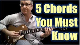 The 5 Chords You Must Know to Play Up the Guitar Neck! (With diagrams)