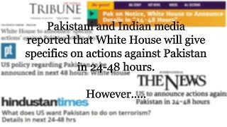 Is the US going to announce further actions against Pakistan in next 24-48 hours? | FactNama