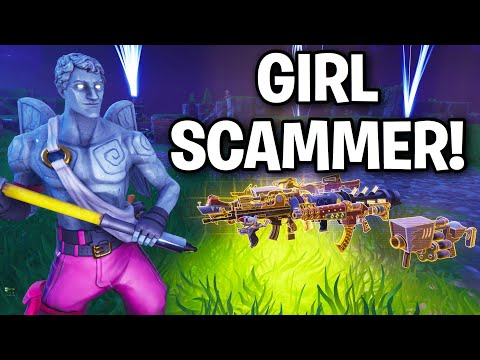 Extremely Weird GIRL Tried to Scam me! 😆🤨 (Scammer Get Scammed) Fortnite Save The World