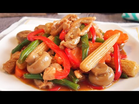 SUPER EASY Chinese Chicken Stir Fry w/ Vegetables Recipe 滑鸡炒蔬菜