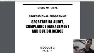 ICSI#CS#COMPANY SECRETARY#PROFESSIONAL#SECRETARIAL AUDIT COMPLIANCE MANAGEMENT AND DUE DILIGENCE