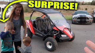 DAD SURPRISES SON With Polaris Hammerhead LE 150 Go Kart