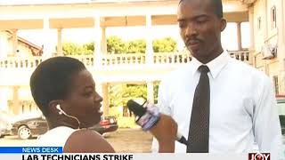 Lab Technicians Strike - News Desk on Joy News (28-5-18)