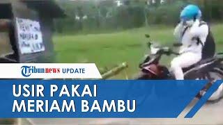 Viral Video Penutupan Akses Jalan Pakai Meriam Bambu di Magetan, Warga yang Nekat Langsung 'Diserbu'