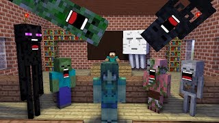 Monster School : Zombie Girl New Student (mob) - Minecraft Animation