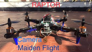 Maiden Flight of the 'RAPTOR', an autonomous FPV quadcopter .
