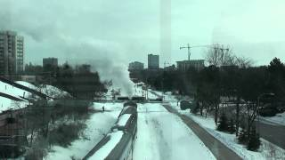 preview picture of video 'ETR No 9 Winter Steamtacular Waterloo Ontario 2-18-2013'
