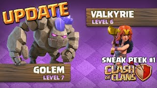 Clash of Clans UPDATE! Sneak Peek 1 - NEW TROOP AND DEFENSE LEVELS - CoC October 2017 Update! | Kholo.pk