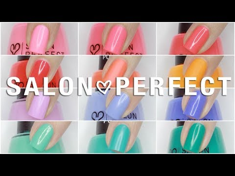 $3 NAIL POLISH?! Salon Perfect Neon Pop | Live Swatches + Review