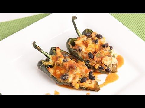 Chicken Enchilada Stuffed Peppers Recipe – Laura Vitale – Laura in the Kitchen Episode 956